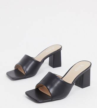 Raid Wide Fit Pia mules in black