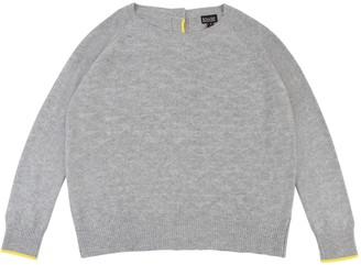 Lowie Grey Cashmere Blend Button Back Reversible Sweater - L - Grey