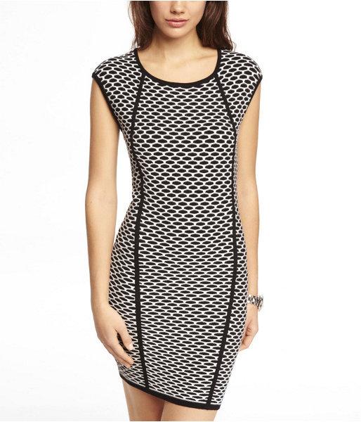 Express Geo Jacquard Sweater Dress