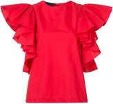Co ruffled sleeve blouse
