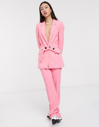 InWear Katrice flared pants co -ord in pink