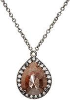 Zoe Women's Opaque Brown Diamond Pendant Necklace