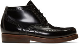 Junya Watanabe Black Heinrich Dinkelacker Edition Lace-up Boots