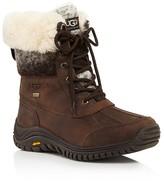 UGG Adirondack II Faux Fur Cuffed Lace Up Mid Calf Boots