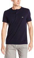 Lacoste Men's Short Sleeve Super Fine Henley Tee Shirt