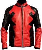Classyak Men's Deadpool Fashion Leather Jacket Medium