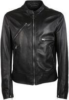 Dolce & Gabbana Zipped Leather Jacket
