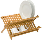 Container Store Folding Bamboo Dish Rack