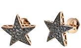 Selim Mouzannar Small Black Diamond Star Stud Earrings