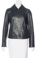 Tory Burch Leather Zip-Front Jacket