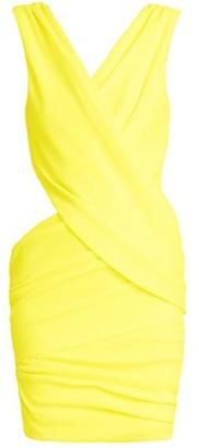 Balmain Cutout Draped Jersey Mini Dress