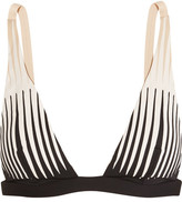 La Perla Voyage Laser-cut Triangle Bikini Top - Black