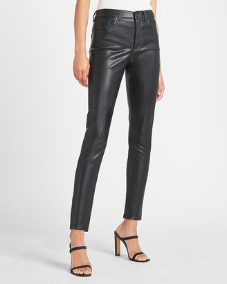 Express High Waisted Vegan Leather Skinny Ankle Pant