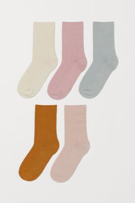 H&M 5-Pack Pointelle Socks