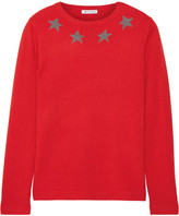 Bella Freud Star Spangle Metallic Intarsia Cashmere-blend Sweater - Red