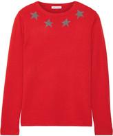 Bella Freud Star Spangle Metallic Intarsia Cashmere-blend Sweater - small