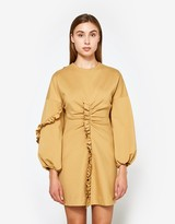 Tibi Ruffle Mini Dress in Chene
