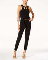 Thalia Sodi Cutout Belted Jumpsuit, Only at Macy's