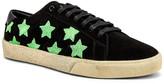 Saint Laurent Court Classic California Sneakers in Black & Green | FWRD
