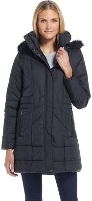 Weatherproof Hooded Shaped 3/4 Puffer Jacket
