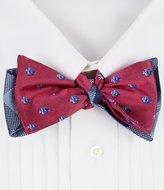 Daniel Cremieux Fish Plaid Reversible Silk Bow Tie