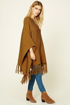 Forever 21 Tasseled Sweater Poncho