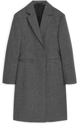 Arket Fitted Wool Blend Coat