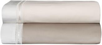 Bovi Fine Linens Devere King Sheet Set, Taupe/White
