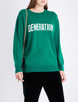 Sandro Generation wool and cashmere-blend jumper