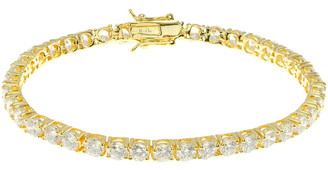 Kenneth Jay Lane Cz By 18K Plated Bracelet