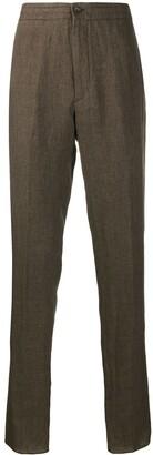 Ermenegildo Zegna Straight-Leg Linen Trousers