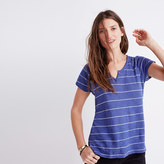 Madewell Choral Split-Neck Tee in Gornick Stripe