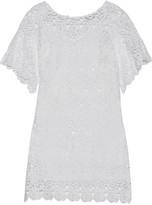 Miguelina Grace cotton-guipure lace coverup