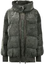 Stella McCartney Grey velvet puffer jacket