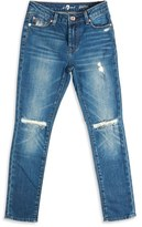 7 For All Mankind Paxtyn Distressed Skinny Fit Jeans (Big Boys)