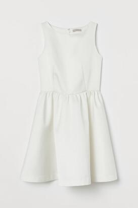 H&M Short Satin Dress - White
