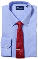 The Tie Bar Blue Multi Dot Dobby Non-Iron Shirt