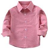 Tortor 1bacha Kid Little Boys' Solid Long Sleeve Button Down Cotton Shirt