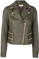 MICHAEL Michael Kors leather biker jacket - women - Lamb Skin/Polyester/Spandex/Elastane - XS