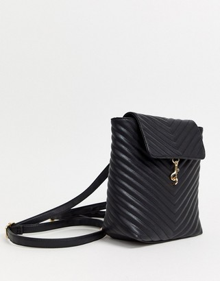 Yoki Fashions foldover quilted backpack