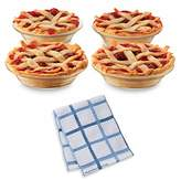 "Libbey 4.9"" Just Baking Mini Pie Dishes, Set of 20 with Dish Cloth"