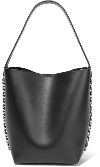 Givenchy Infinity Chain-trimmed Leather Shoulder Bag - Black