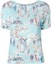 Blugirl beach print T-shirt