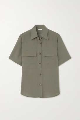 LVIR Wool-blend Shirt - Army green