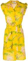 Kenzo sea lily print shirt dress