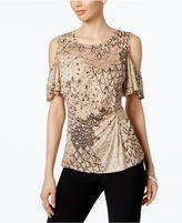 MSK Cold-Shoulder Embellished Blouse