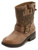 Charlotte Russe Pyramid Stud Ankle Boot