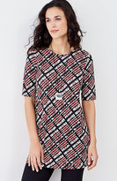 J. Jill Wearever Elbow-Sleeve Printed Tunic
