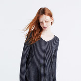 Madewell Anthem Long-Sleeve V-Neck Tee in Stripe