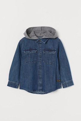 H&M Denim hooded shirt